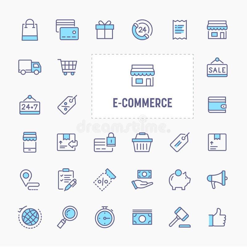 E-commerce Icon Set stock illustration