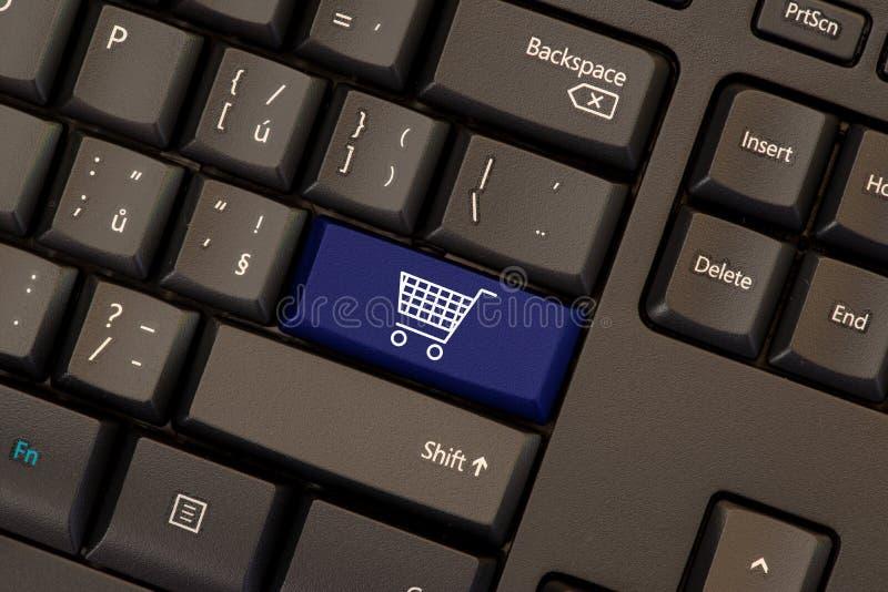 E-commerce key on keyboard stock illustration