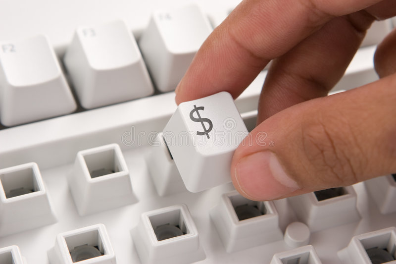 E-commerce keyboard : Dollar royalty free stock images