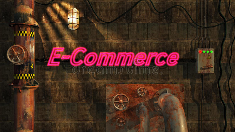 Download E-Commerce In Neon Royalty Free Stock Photography - Image: 10544877