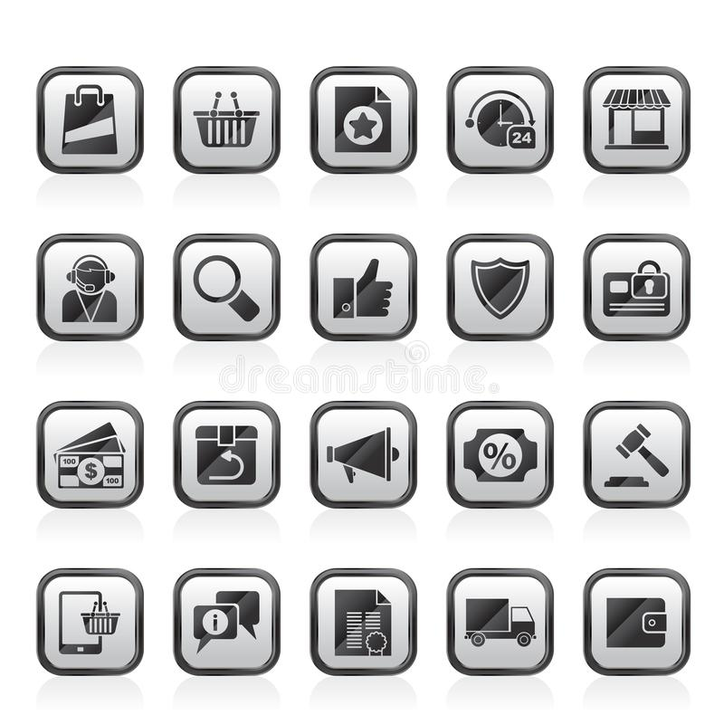 E-commerce and shopping icons. Vector icon set vector illustration