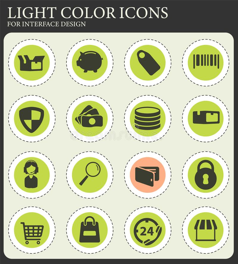 E-commerce simply icons. E-commerce simply symbol for web icons and user interface vector illustration