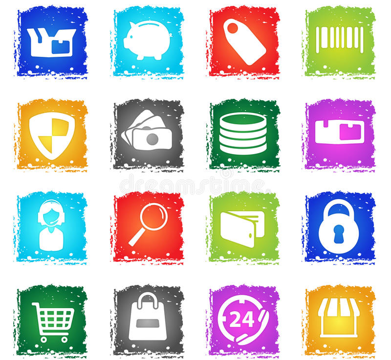 E-commerce simply icons vector illustration