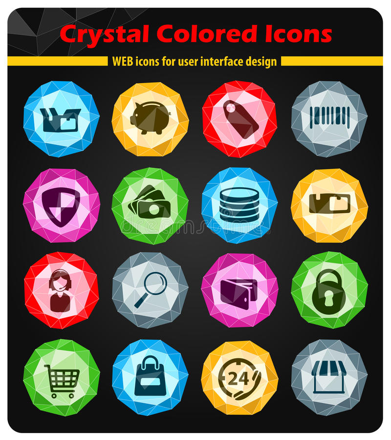 E-commerce simply icons stock illustration