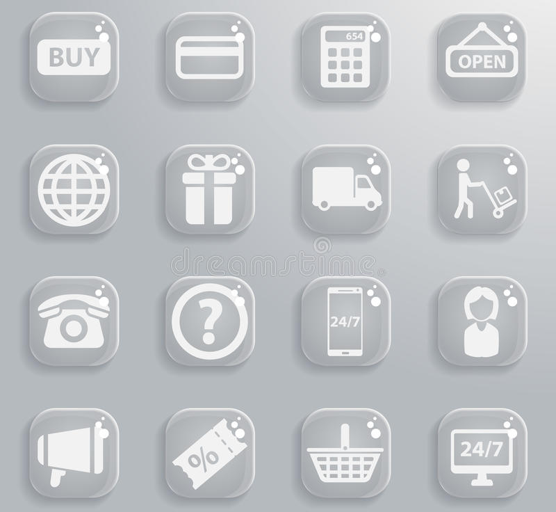 E-commerce simply icons royalty free illustration