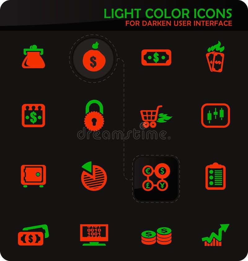 E-commers symbolsuppsättning vektor illustrationer