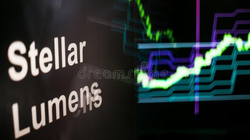 E comportement des échanges de cryptocurrency, concept Technologies financières modernes photographie stock libre de droits