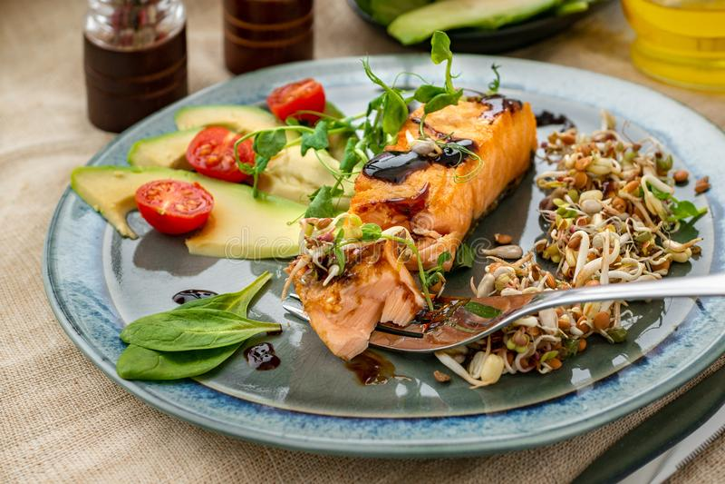 E Concept macrobiotique de nourriture Nourriture saine photographie stock