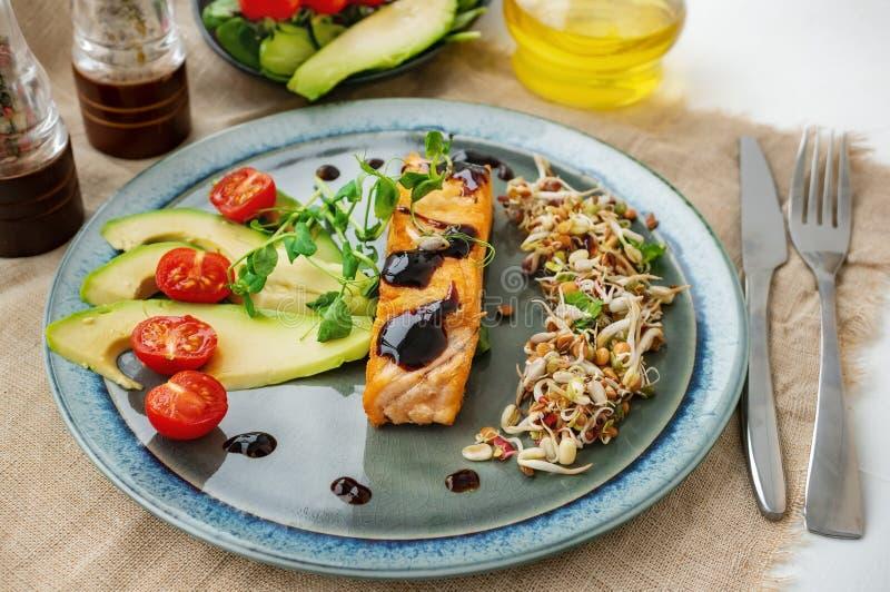 E Concept macrobiotique de nourriture Nourriture saine images stock