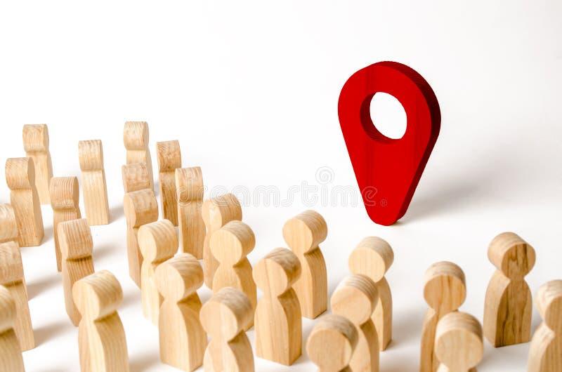 E Concept navigatie en trefpunt met nadruk op de Verrekijkers stock foto