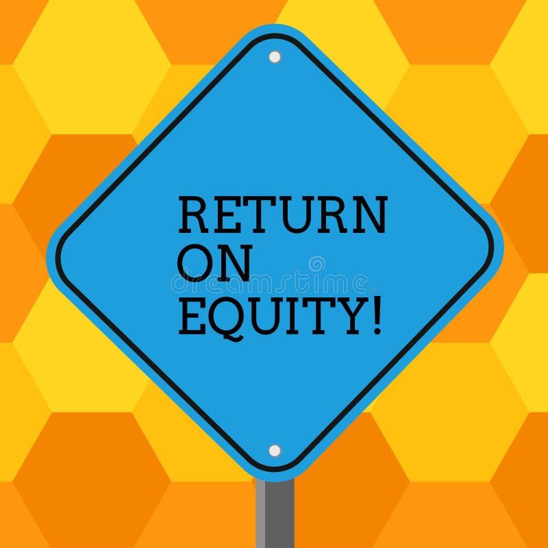 E Concept signifiant des affaires de rentabilité par rapport à la valeur du blanc d'actionnaire illustration de vecteur