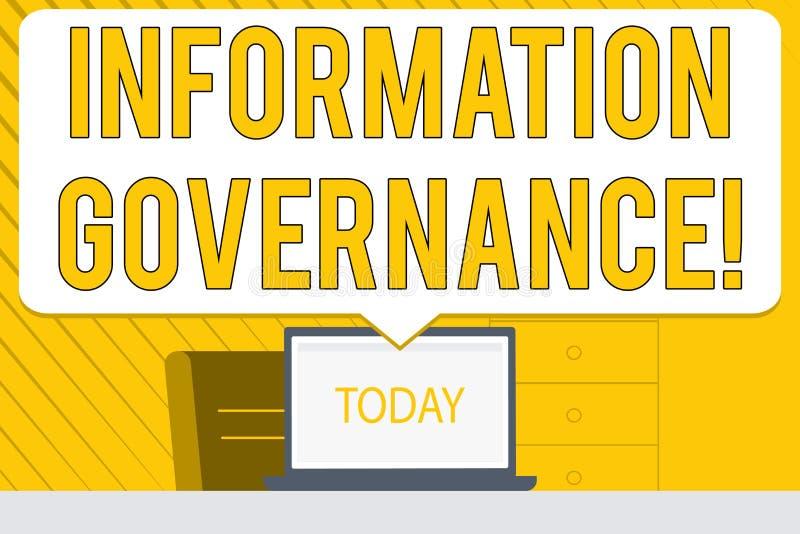 E Concepto del negocio para el analysisagement de la información en un espacio en blanco de la organización stock de ilustración