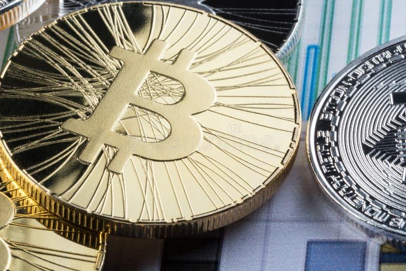 E Conceptueel beeld voor crypto muntmarkt royalty-vrije stock foto