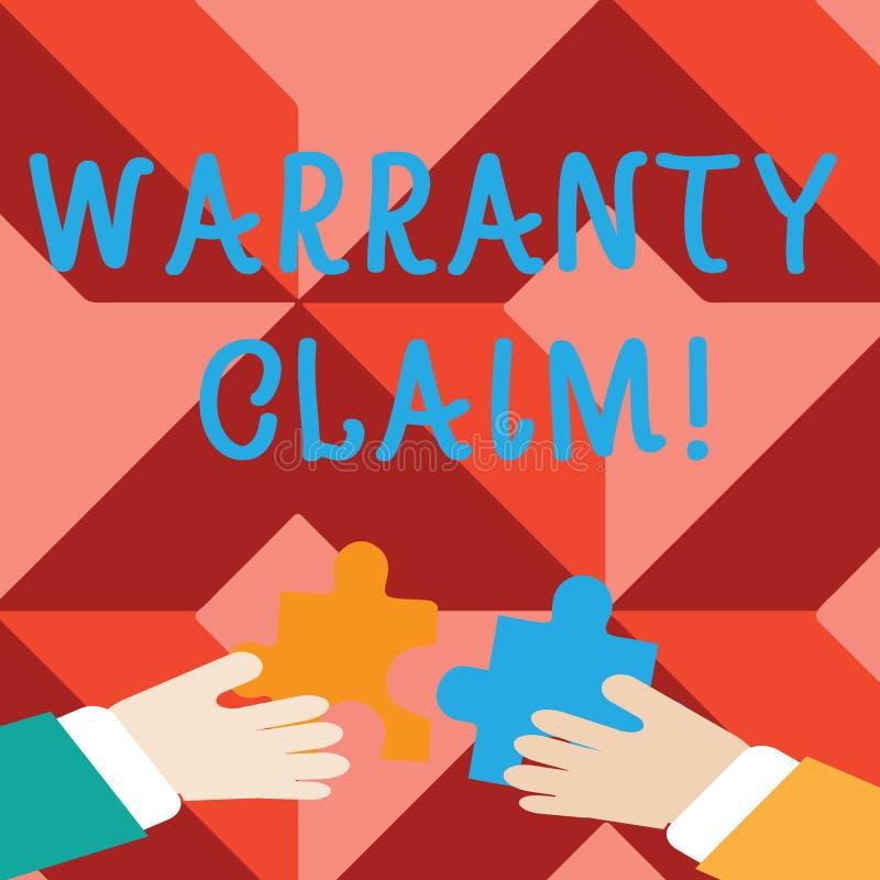 E Concetto di affari per la destra di un cliente per la sostituzione o riparazione o compensazione due royalty illustrazione gratis