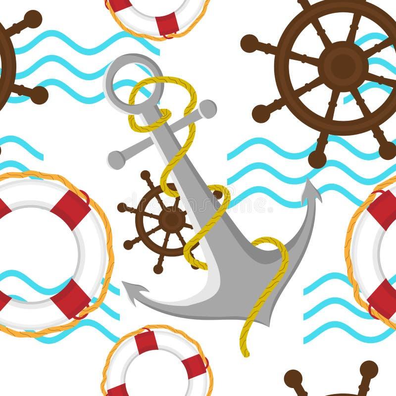 E Configuration sans joint Illustration de mer d'?t? illustration de vecteur