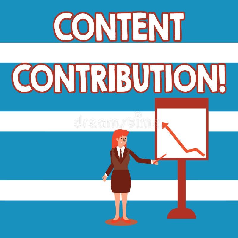 E Contributo concettuale della foto di informazioni a qualsiasi donna di affari digitale di media illustrazione vettoriale