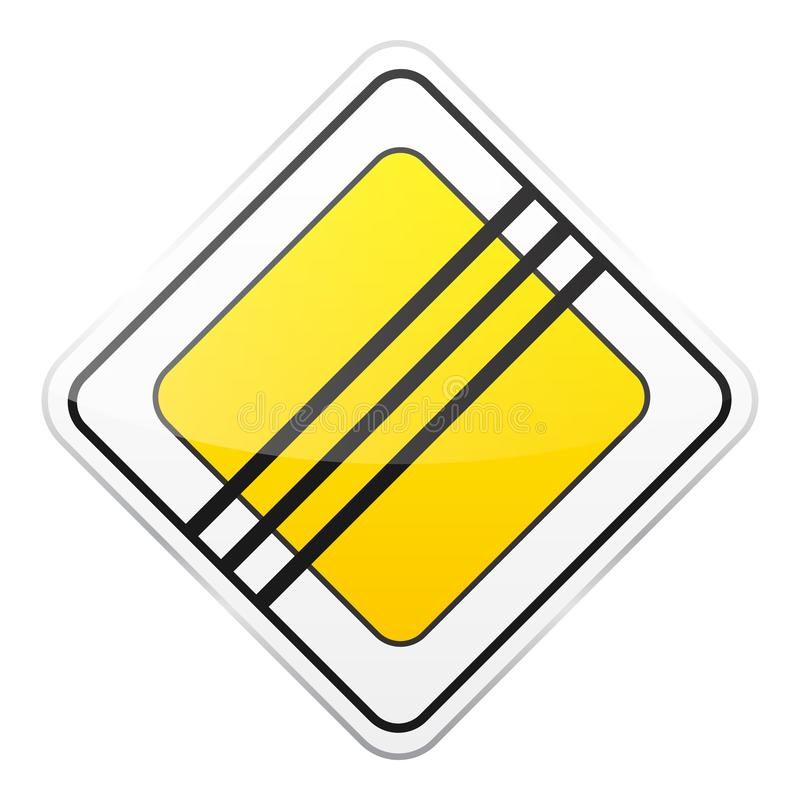 E Controle de tráfego rodoviário Uso da pista Parada e rendimento r rua ilustração royalty free