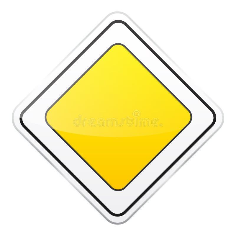 E Controle de tráfego rodoviário Uso da pista Parada e rendimento r rua ilustração stock