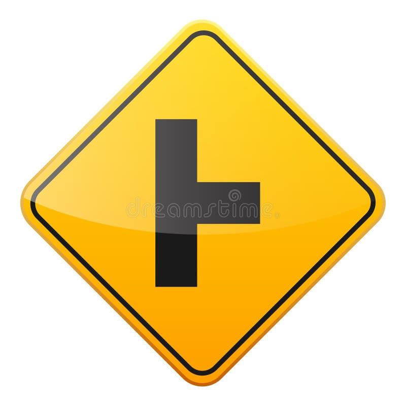 E Controle de tráfego rodoviário Uso da pista Parada e rendimento r rua curvas ilustração royalty free