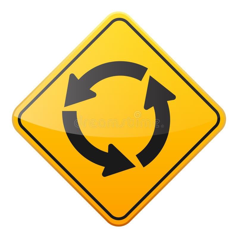 E Controle de tráfego rodoviário Uso da pista Parada e rendimento r rua curvas ilustração stock