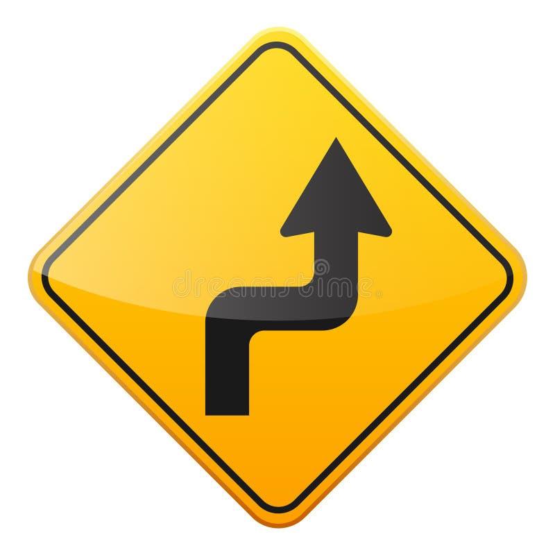 E Controle de tráfego rodoviário Uso da pista Parada e rendimento r rua curvas ilustração do vetor