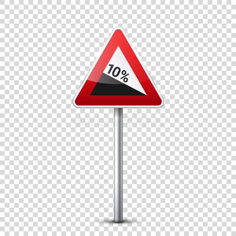 E Controle de tráfego rodoviário Uso da pista Parada e rendimento regulatory ilustração do vetor