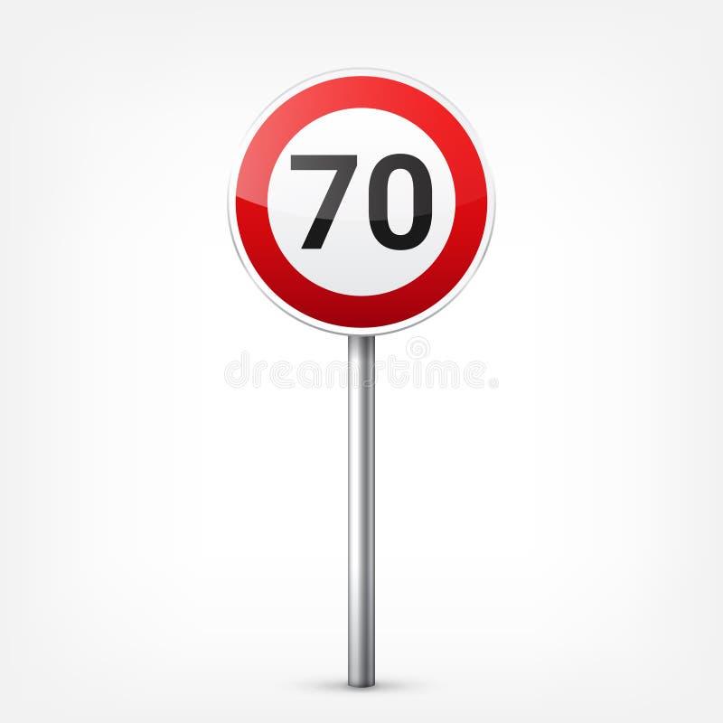 E Controle de tráfego rodoviário Uso da pista Parada e rendimento Sinais reguladores ilustração do vetor
