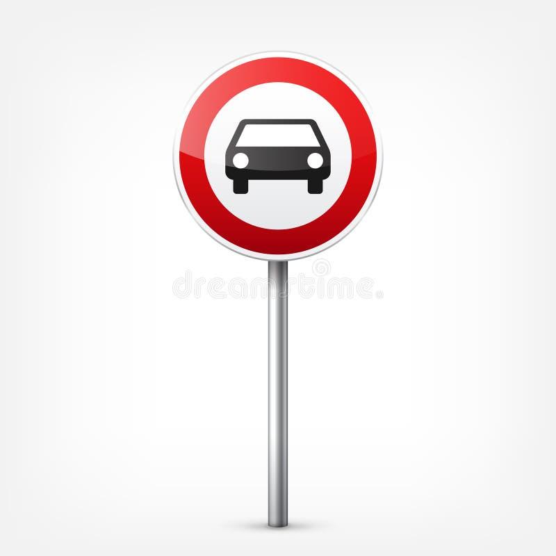 E Controle de tráfego rodoviário Uso da pista Parada e rendimento Sinais reguladores ilustração stock