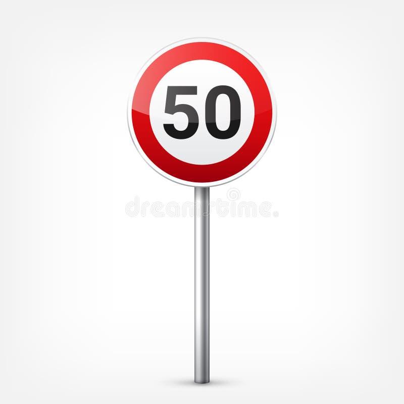 E Controle de tráfego rodoviário Uso da pista Parada e rendimento Sinais reguladores ilustração royalty free