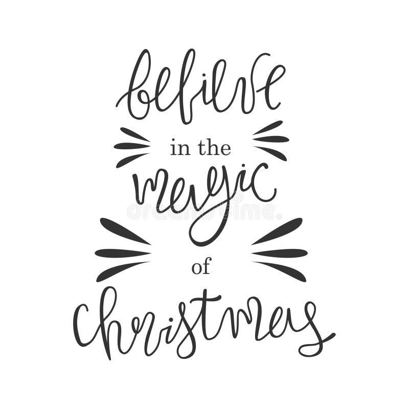 E Crea en la magia de la Navidad imágenes de archivo libres de regalías