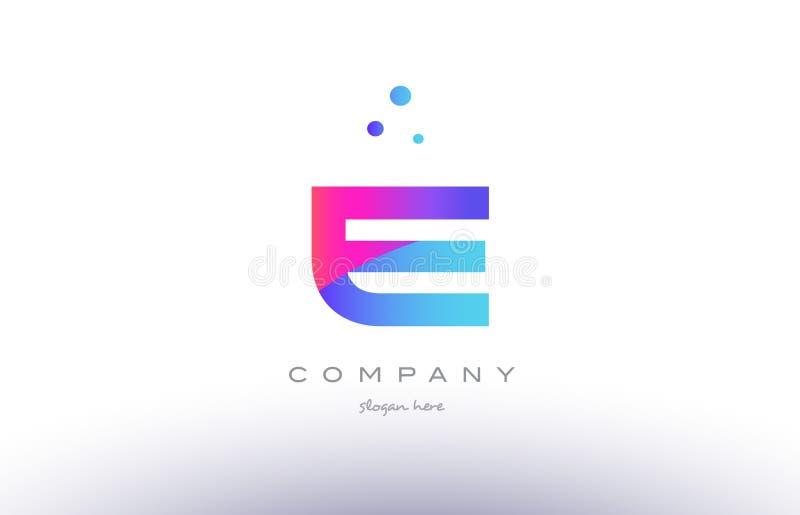 E creative pink blue modern alphabet letter logo icon template stock download e creative pink blue modern alphabet letter logo icon template stock vector illustration of spiritdancerdesigns Choice Image