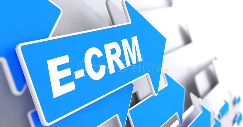E-CRM. Concetto di tecnologia dell'informazione. illustrazione vettoriale