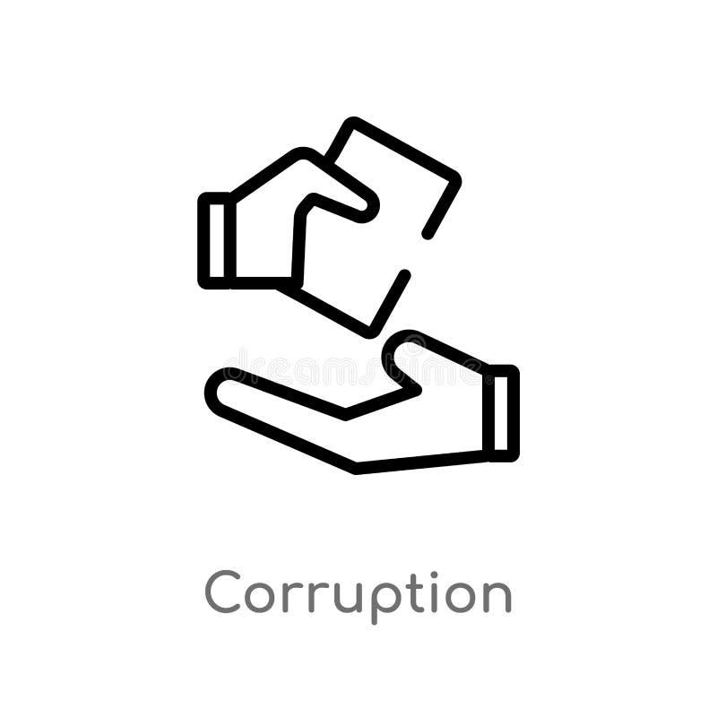 E de ge?soleerde zwarte eenvoudige illustratie van het lijnelement van ethiekconcept Editable vectorslag stock illustratie