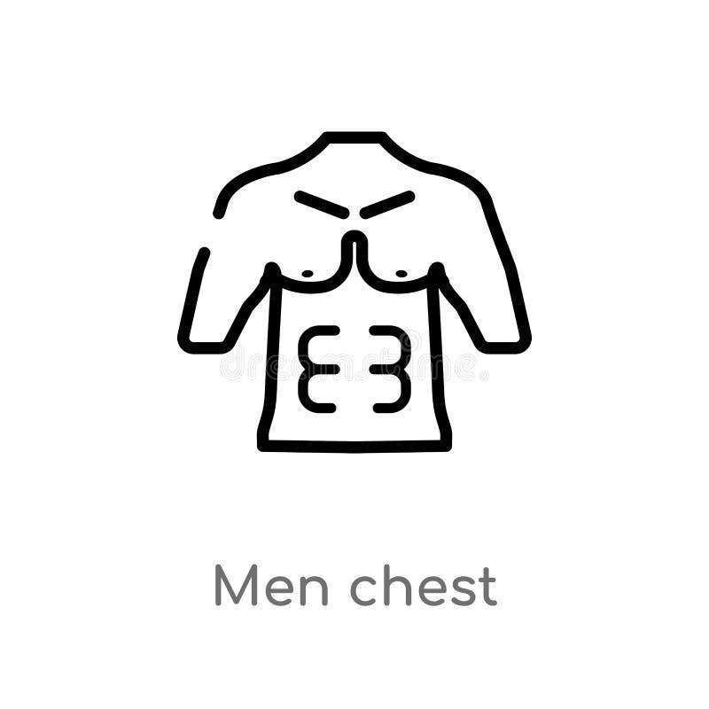 E de ge?soleerde zwarte eenvoudige illustratie van het lijnelement van menselijk lichaamsdelenconcept Editablevector vector illustratie
