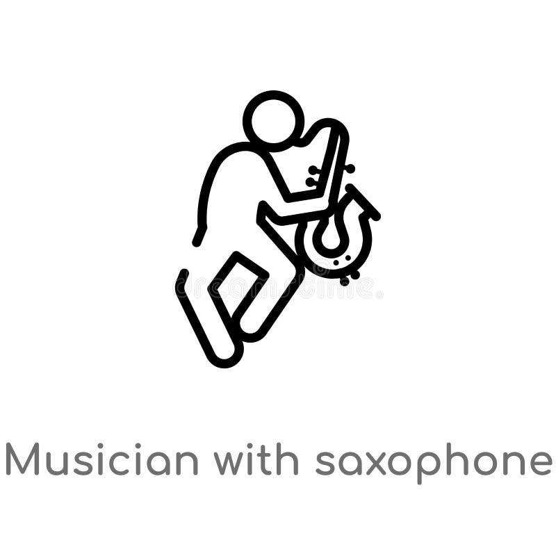 E de ge?soleerde zwarte eenvoudige illustratie van het lijnelement van muziekconcept Editablevector vector illustratie