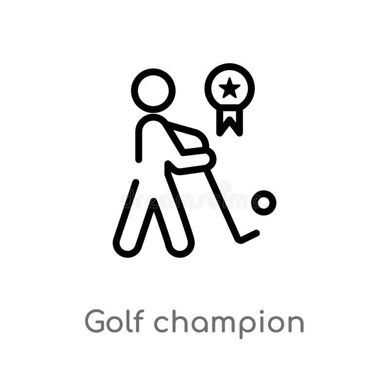 E de ge?soleerde zwarte eenvoudige illustratie van het lijnelement van sporten en de concurrentieconcept editable stock illustratie