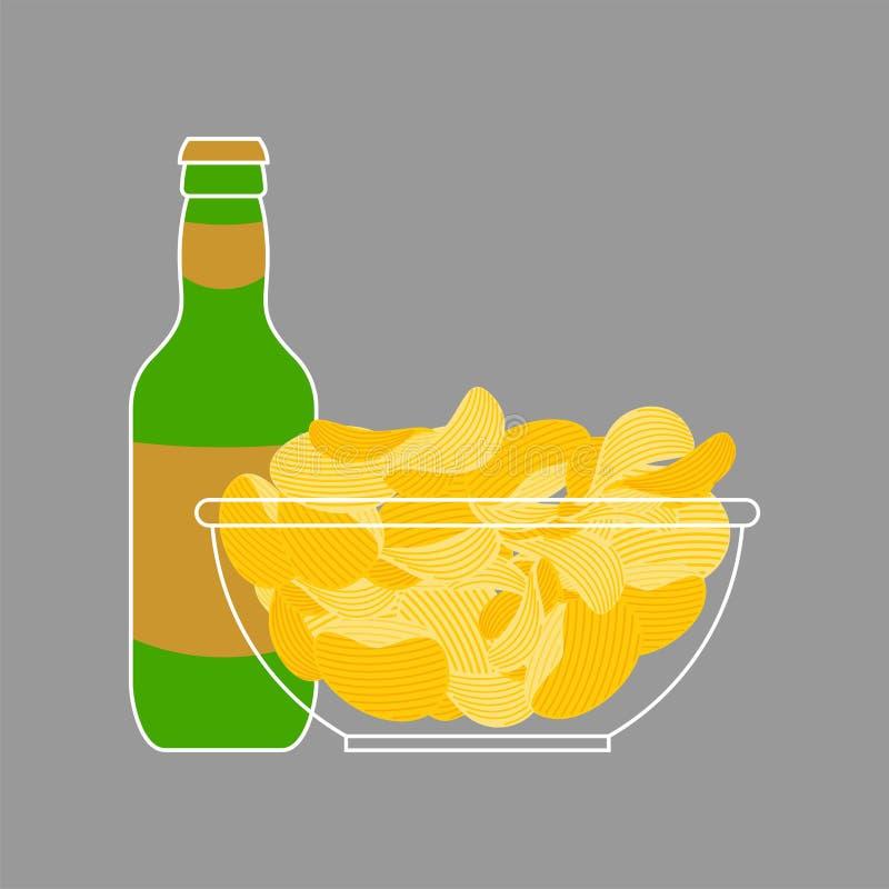 E De gebraden vector van het snackvoedsel vector illustratie