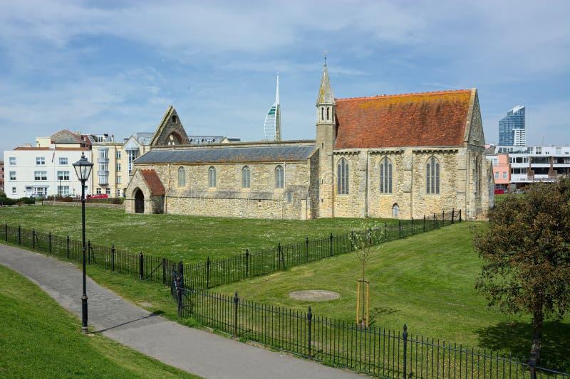 E De koninklijke Kerk van het Garnizoen Portsmouth, het UK stock afbeelding