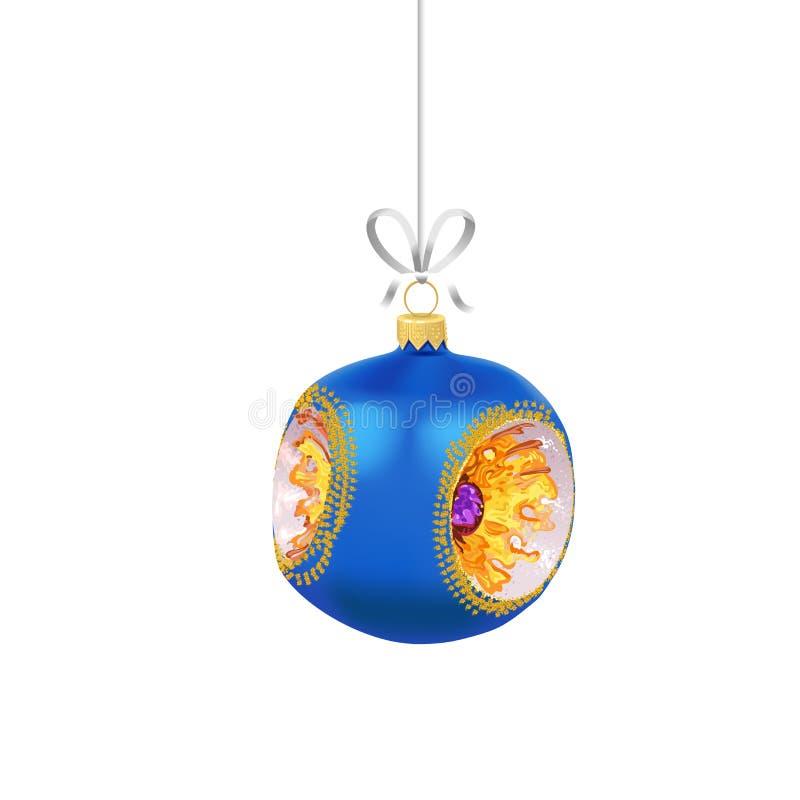 E De traditionele decoratie van de Nieuwjaarboom vector illustratie
