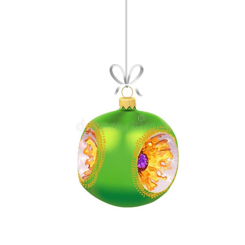 E De traditionele decoratie van de Nieuwjaarboom royalty-vrije illustratie