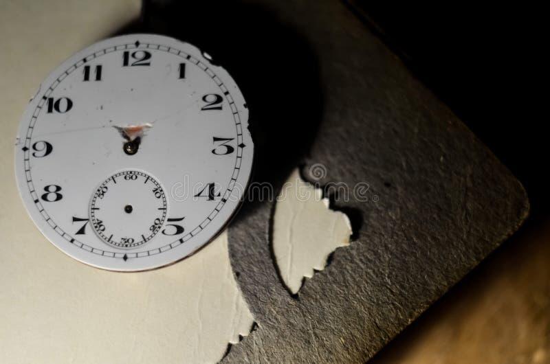E Dettagli degli orologi e dei meccanismi per la riparazione, il ripristino e la manutenzione Fondo immagini stock