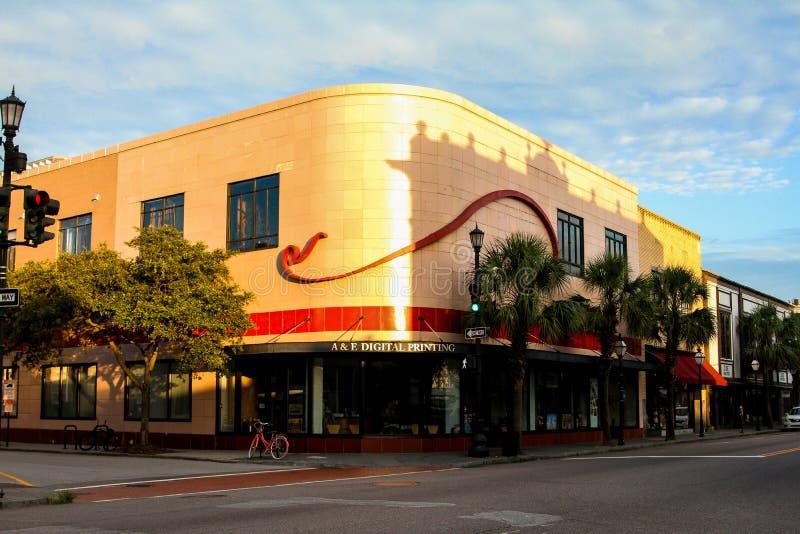 A&E digitale Druk, Koning Street, Charleston, Sc royalty-vrije stock foto's