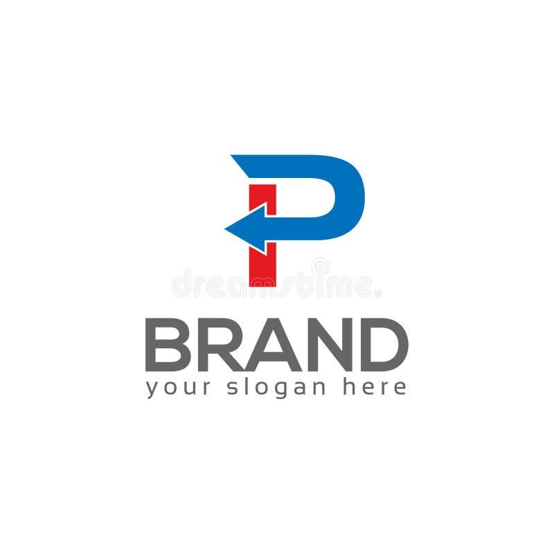 E Diseño plano del logotipo libre illustration