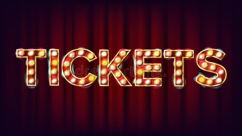 E Dla sztuka festiwalu wydarzeń projekta Cyrkowego rocznika Złoty Iluminujący Neonowy światło klasyk royalty ilustracja