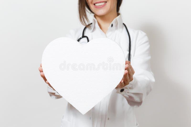 E Doutor fêmea no vestido médico fotos de stock
