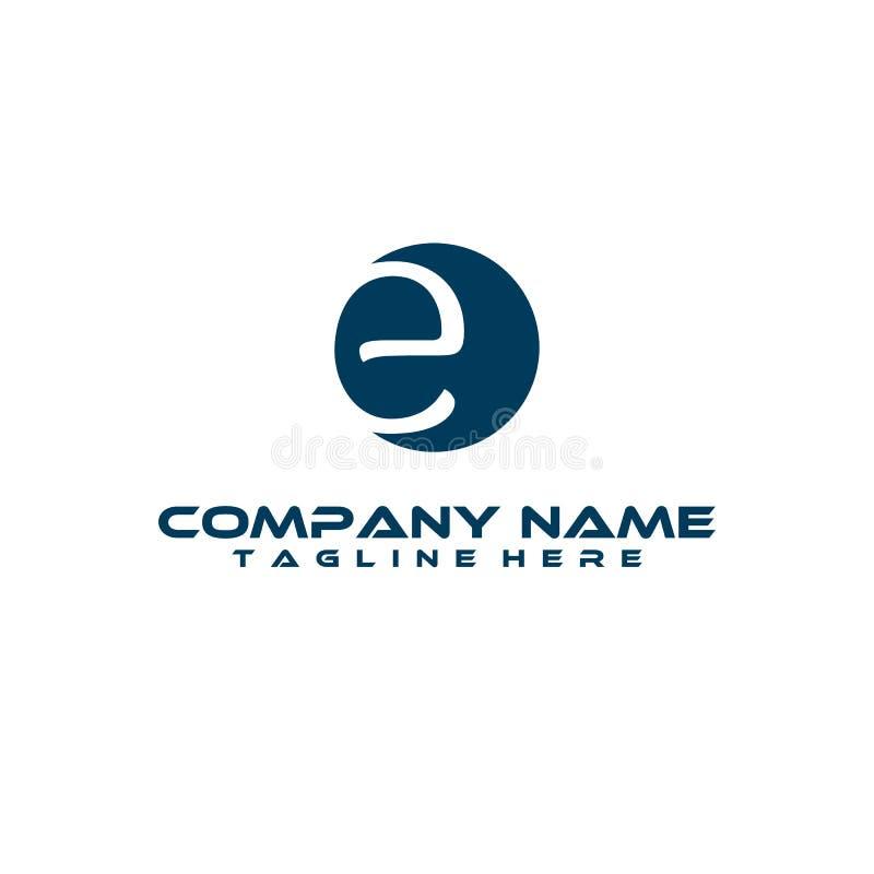 E. E monogram logo. E letter logo design vector illustration template. E logo vector. creative Letter E logo. E handwriting logo. letter E logo concept royalty free illustration