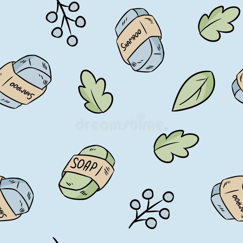 E Ecologisch en nul-afval product Groen huis en hetvrije leven stock illustratie