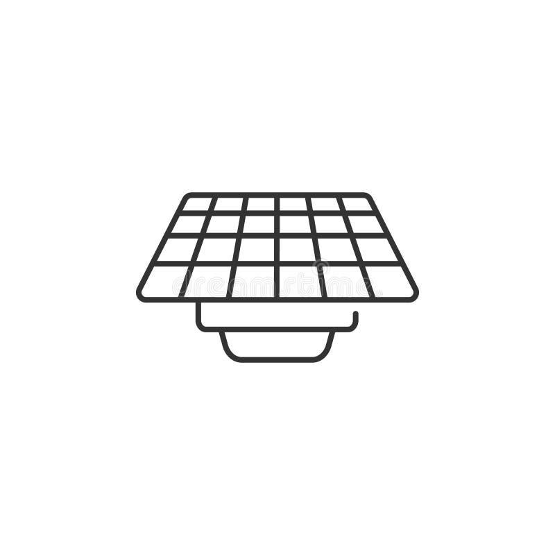E Eenvoudige elementenillustratie Het ontwerp van het zonnepaneelsymbool van de reeks van de Ecologieinzameling Kan in Web en mob vector illustratie