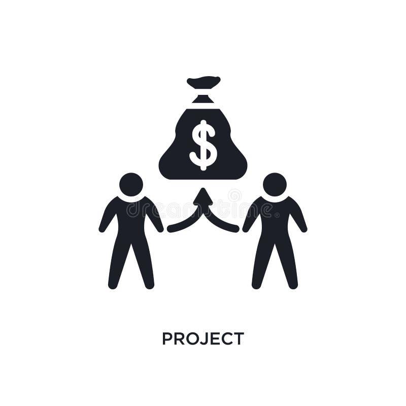E einfache Elementillustration von crowdfunding Konzeptikonen r lizenzfreie abbildung