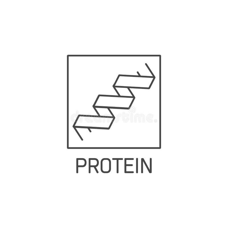 E Eiwittekenontwerp Symbool van het gezonde eten vector illustratie